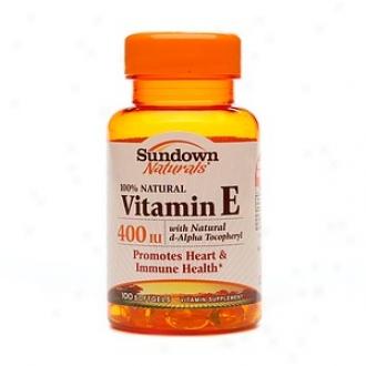 Sundown Naturals Vitamin E With Natural D-alpha Tocopheryl, 400 Iu