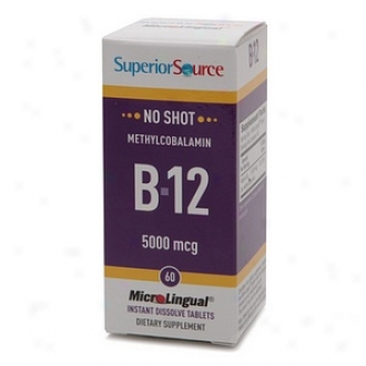 Superior Source No Shot Methylcobalamin B12 5O00mcg, Disolve Tablets
