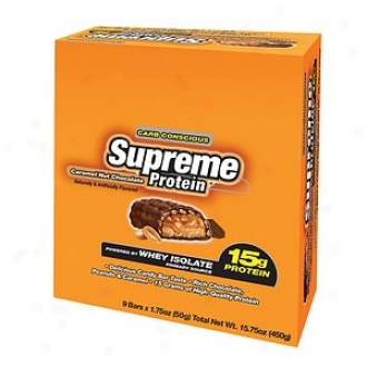 Supreme Protein Carb Conscious Bras, 15g Protein, Caramel Nut Chocolate