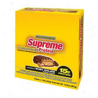 Supreme Protein Carb Conscious Bars, 15g Protein, Peanut Butter Crunch