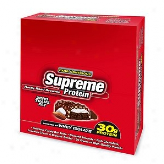 Supreme Protein Carb Conscious Bars, 30g Protein, Rocky Road Browniie