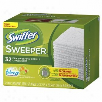 Swiffer Sweeper Dry Sweeping Cloths With Febreze, Febreze Sweet Citrus & Zest