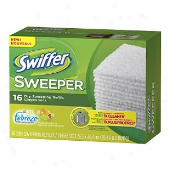 Swiffer Sweeper Dry Seeeping Cloths With Febreze, Sweet Ciyrus & Relish