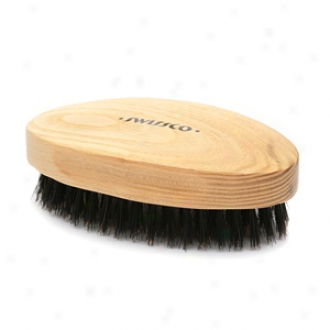 Swissco Oakwood Men's Military Boar Bristle Club Brush
