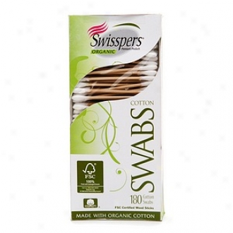 Swisspers Organic Biodegradable Cotton Swabs