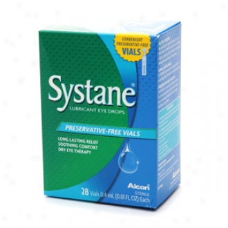 Systane Lubricant Eye Drops, Preservative-free Vials