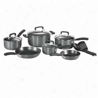 T-fal D913sc64 Signature Hard Anodized 12-piece Cookware Set