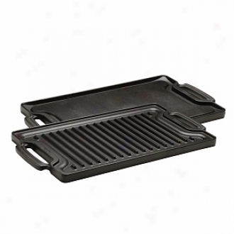 T-fal E9429764 18  X 10   Reversible Cast Iron Grill/griddle