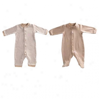 Tadpoles Footed Romper + Footless Romper, Cocoa, 0-3 Mos