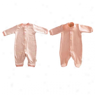 Tadpoles Footed Romper + Footless Romper, Salmon, 0-3 Mos