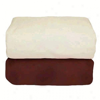 Tadpoles Organic Flannel Fitted Rack Sheets Set/2, Cocoa & Natural