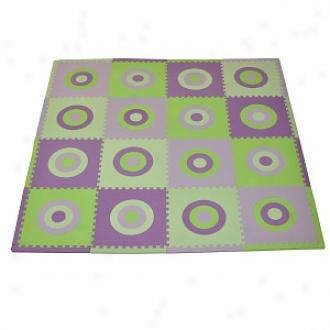 Tadpoles Playmat Set Circles Squared 16pc, Purple And Green