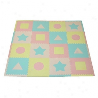 Tadpoles Playmat Set First Shapes 16pc, Multi Ane Pastel