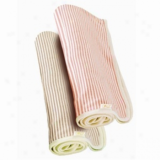 Tadpoles S/2 Organic, Cotton Double Layer Receiving Blanket, Salmon + Cocoa, One Size