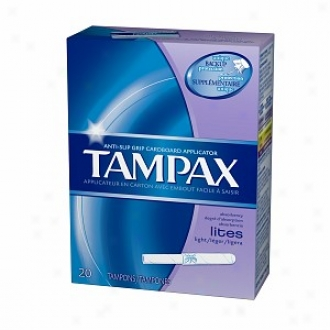 Tampax Tampons With Caedboard Applicator, Lites, 20 Ea