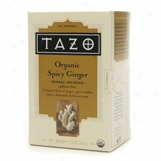Tazo Caffeine Free Pertaining  Infusion, Organic Spicy Ginger