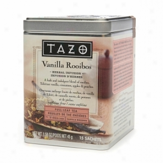 Tazo Herbal Infusion, Full-leaf Saches, Vanilla Rooibos
