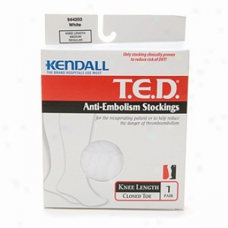 T.e.d. Anti-embolism Stockings , Knee Length Medium, White