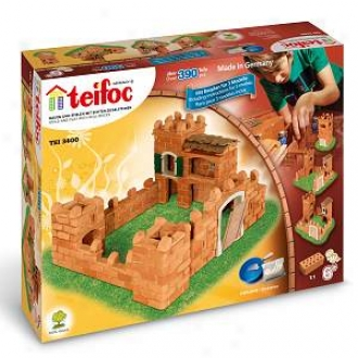 Teifoc Castle Brick Structure Set - 394 Pc. Ages 6+