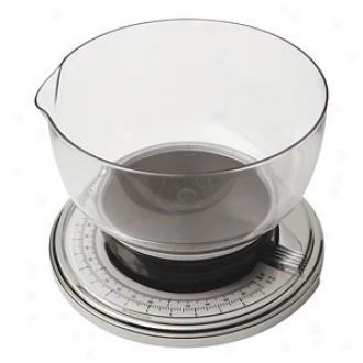 Terraillon Bb3200 6.6 Pound Mechanicap Kitchen Scale, Chrome Transparent Bowl