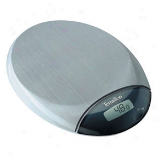 Terraillon Cafe 5 Pound Digital Kitchen Scale, Stainless Steel