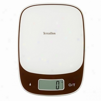 Terraillon Sensia Touch 11-pound Electronic Kitchen Scale, Chocolate