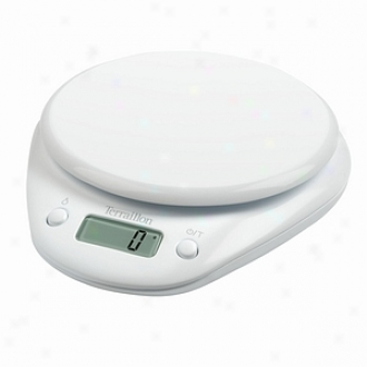 Terraillon T800 6.6-pound Electronic Kitchen Scale, White