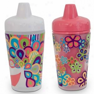 The First Years Smart Sipoer Spill-proof Insulated Cups, Pretty Peacock (9oz)