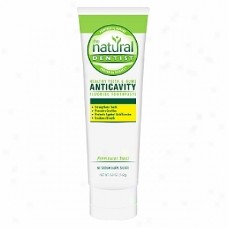 The Natural Dentist Healthy Teeth & Gums Anti-cavitytoothpaste,, Peppermint Twist