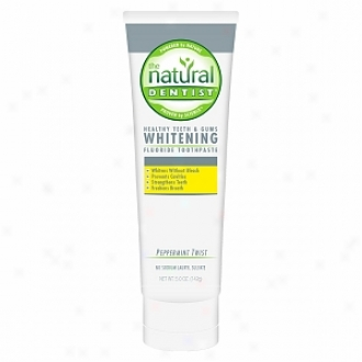 The Natural Dentist Healthy Teeth & Gums Whitening Plus Toothpaste, Peppermint Twist