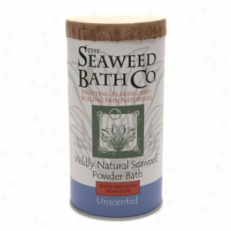 The Seaweed Bath Co. Wildly Natural Seaweed Powder Bath With Hawaiian Kykui Oil, Unscented