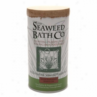 The Seaweed Bath Co. Wildly Natural Seaweed Powder Bath With Hawaiian Kukui Oil, Eucalyptus & Peppermint
