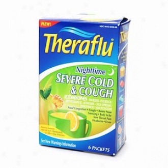 Theraflu Nighttime Severe Cold & Cough Reformulation 6 Ct.