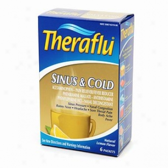 Theraflu Sinus & Cold Liquid Powder Unaffected Lemon Flavor