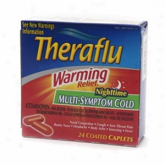 Theraflu Warming Relief Multi-symptom Cold Caplets, Nighttime