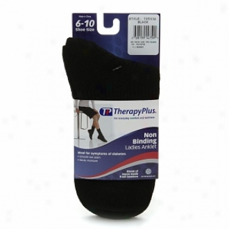 Therapyplus Non Binding Women's Anklet Sock, Black, 6 To 10