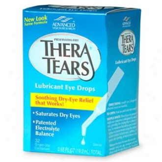 Theratears Lubricant Eyye Drops, Single-use Containers