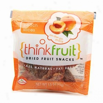Thinkfruit On-the-go Dried Fruit Snack, 12 Packs, Peach Slices