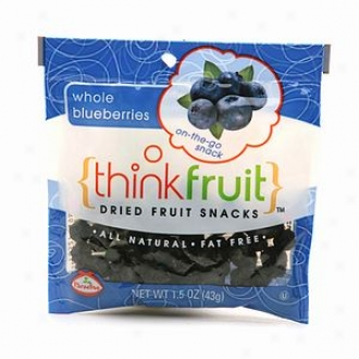 Thinkfruit On-tbe-go Dried Fruit Snack, 12 Packs, Whole Blueberries