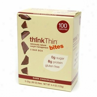 Thinkthin Bites 100 Calorie Bars (6 Boxes; 5 Bars Each), Dark Chocolate
