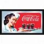 Trademark Global Coca-coola Vintage Mirror Horizontal Waitress W/ Cokke