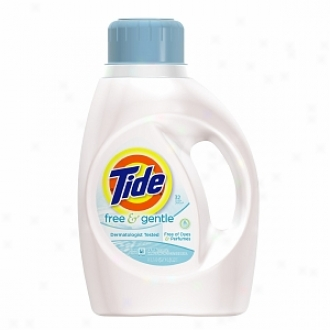 Tide Liquid Detergent, Free & Gentle, 32 Loads, Fragrance Free, Sensitive Skin