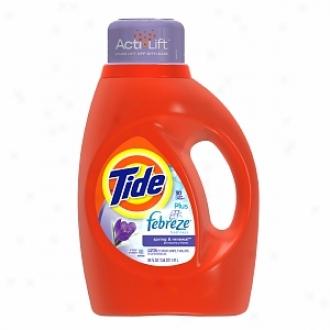 Tide Liquid Detergent Plus Febreze, 26 Loads, Spring & Rneewal