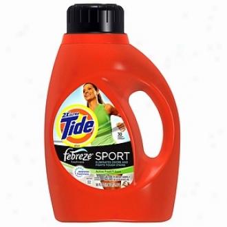 Tide Liquid Detergent Plus Febreze Freshness, 30 Loads, Active Fresh Scent
