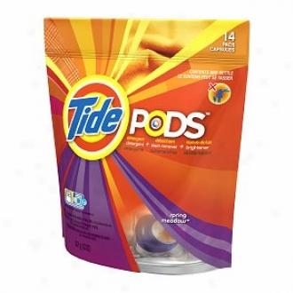 Tide Pods Detergent, Spring Meqdow, 14 Loads