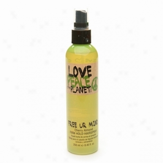 Tigi Love, Peace & The Planet Unobstructed Ur Mind Firm Hold Hairspray, Cherry Almond