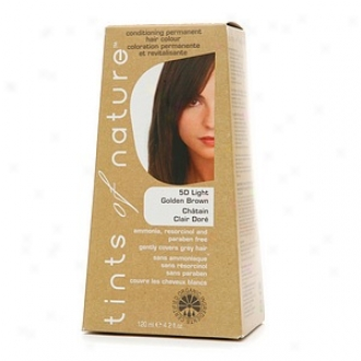 Tints Of Nature Conditioning Permanent Hair Color, Light Golden Brown 5d
