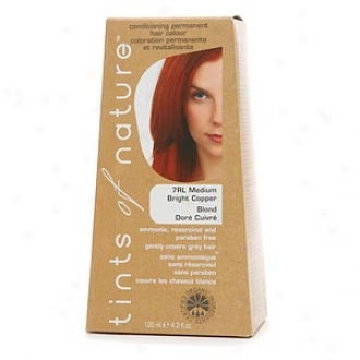 Tints Of Nature Conditioning Permanent Hair Color, Medium Bright Copper 7rl