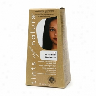 Tints Of Nature Conditioning Permanent Hair Color, Natural Black 1n