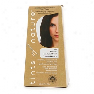 Tints Of Kind Conditioning Permanent Hair Color, Natural Medium Brown 4n